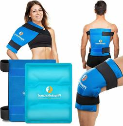 Large Flexible Gel Ice Pack & Wrap - Hot & Cold Therapy for