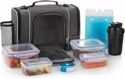 Large Insulated Meal Prep Lunch Bag Food Containers Boxes Le
