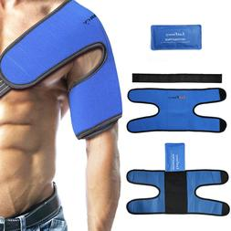 Gel Ice Pack with Shoulder Wrap for Sports Injuries Sprains