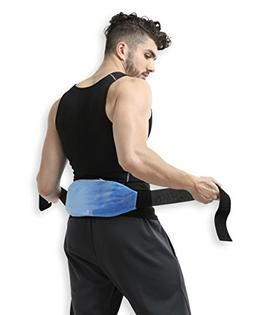 Lower Back Gel Beads Hot & Cold Therapy Wrap Compress Pack +