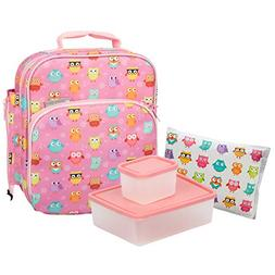 Bentology Lunch Bag and Container Set for Girls - Includes I