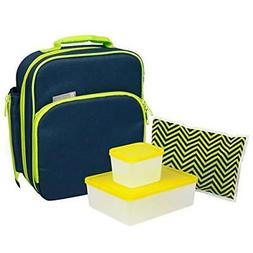 Bentology Lunch Bag and Container Set for Boys - Includes In