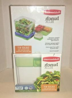 Rubbermaid Lunch Blox Salad Kit w/ Topping Tray , Dressing C