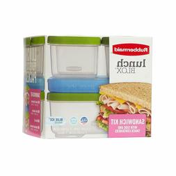 RUBBERMAID Lunch Blox Sandwich Kit w/Side & Snack Containers