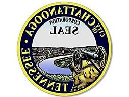 GHaynes Distributing MAGNET ROUND City Seal of Chattanooga T