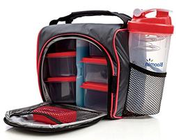 Meal Prep Lunch Box Including 4 Containers and 1 Ice Pack by