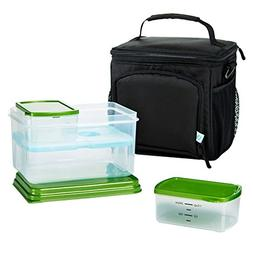 Fit & Fresh Meal Prep Insulated Cooler Bag with Lunch-On-The