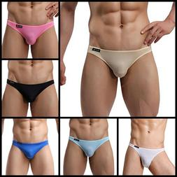 Mens Brief Asian Size Breathable Ice Silk Triangle Bikini Se