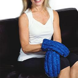 Blue Hot and Cold Microwavable Kozy Heating Pad Mittens for