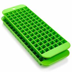 Mini Ice Cube Trays - 2 Pack - 90 Square Shaped Molds - BPA