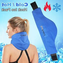 Neck Ice Pack Wrap Hot Cold Therapy for Shoulder Cervical Ar