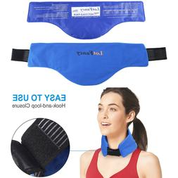 Neck ice Pack Hot Cold Therapy with Soft Wrap for Shoulder J