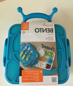 NEW Bento Boon Snail Blue Lunch Box Kids Container Ice Pack