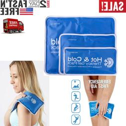 new Large Cold Hot Therapy Pad Reusable Gel Ice Pack Pain Re