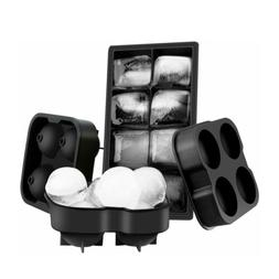 OMorc Ice Cube Trays 3 Pack, Easy-Release 2 Ice Ball and 1 I