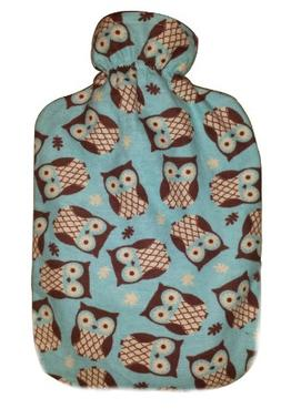 Warm Tradition Owls 100% Cotton Flannel Covered Hot Water Bo