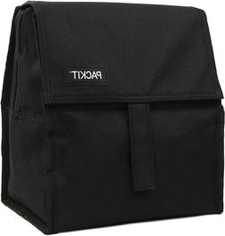 PackIt Freezable Lunch Bag with Zip Closure, Black New....