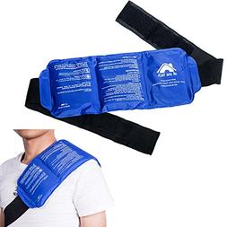 Pain Relief Ice Pack with Strap for Hot & Cold Therapy - Reu