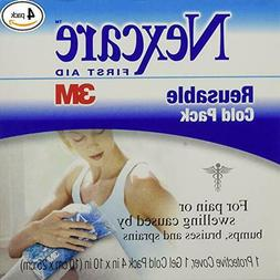 """Nexcare Reusable Cold Pack 3M 4"""" x 10"""" First Aid Soft Gel-Fi"""