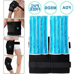 YT Reusable Gel Ice Pack & Wrap,Large Hot Cold Therapy for H
