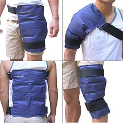 Reusable Gel Ice Pack for Injuries with Strap by Kinetic Lab