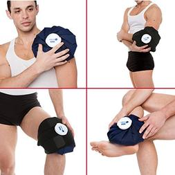 Reusable Large Ice Bag  with Strap: Cold Therapy for Knee In