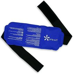Reusable Ice Pack with Strap by TheraPAQ - Soft Flexible Gel