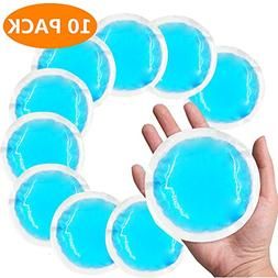 Round Reusable Gel Ice Packs with Cloth Backing for Hot or C