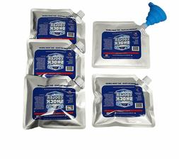 Set of 5 Cooler Shock lunch bag size ice packs 18 degree Fah