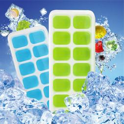Silicone 2Pack  Ice Cube Trays with Removable Lids 28 Cubes