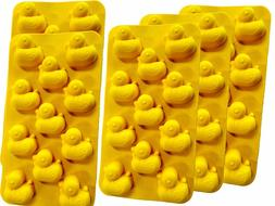 Silicone Flexible Plastic Duck Ducky Shapes Ice Cube Tray Ch