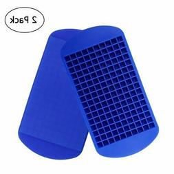 Silicone Mini Ice Cube Trays 2 Pack 160 Small Molds Easy Rel