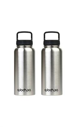 Stainless Steel Water Bottle with Easy Carry Lid - BPA Free