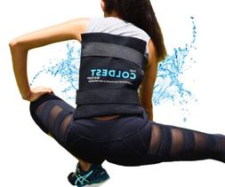 The Coldest Ice Pack Large Flexible Gel Ice Pack and Wrap wi
