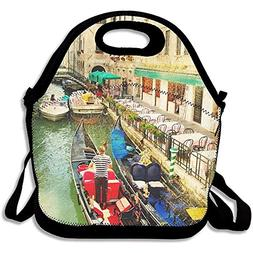 Amazing Venice Artwork In Painting Style New Lunch Tote Lunc