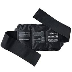 SnowGe Waist/Lumbar Back Hot Cold Ice Gel Pack with Belt Sup