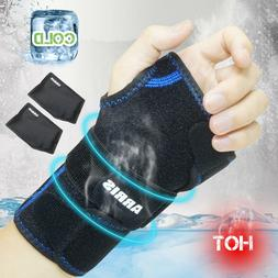 Wrist Ice Pack Wrap - Hand Support Brace with Reusable Gel P